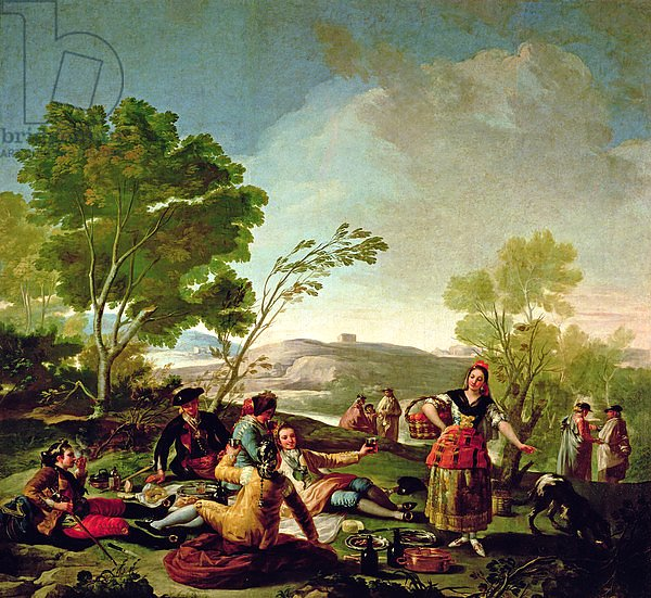 Meal on the banks of the River Manzanares, 1776