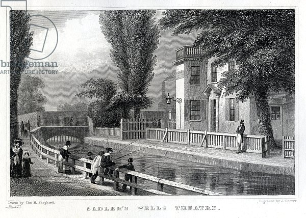 Sadler's Wells Theatre, engraved by J. Garner, 1830
