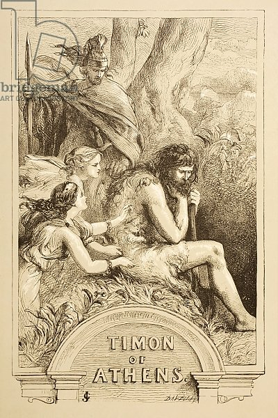 Illustration for Timon of Athens, from 'The Illustrated Library Shakespeare', published London 1890