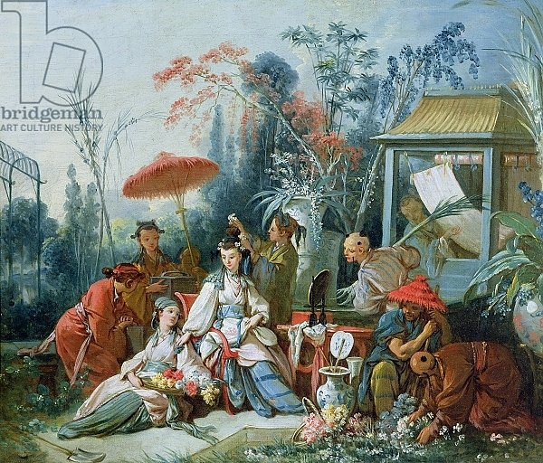 Постер Буше Франсуа (Francois Boucher) The Chinese Garden, c.1742