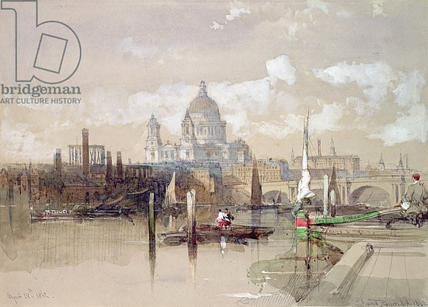 St. Pauls from the River, 1863