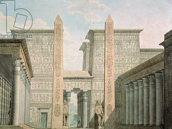 The Entrance to the Temple, set design for 'The Magic Flute' by Wolfgang Amadeus Mozart