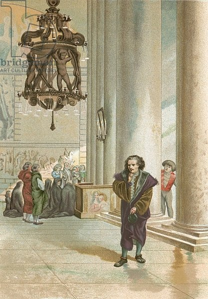 Galileo in the cathedral in Pisa