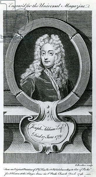 Joseph Addison, Esquire Illustration for the Universal Magazine, 1748
