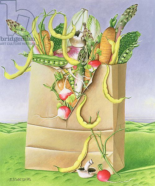 Paper Bag with Vegetables, 1992