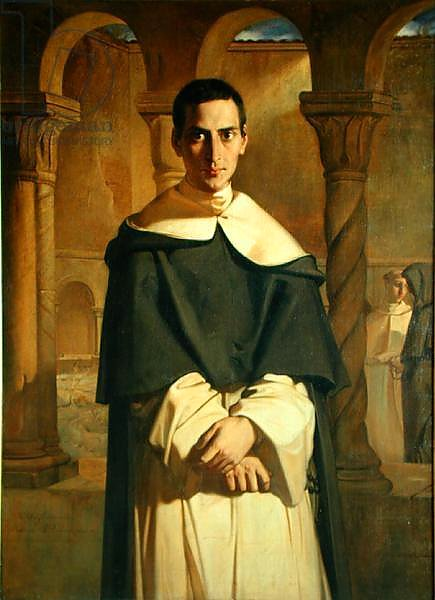 Portrait of Jean Baptiste Henri Lacordaire, French prelate and theologian, 1841