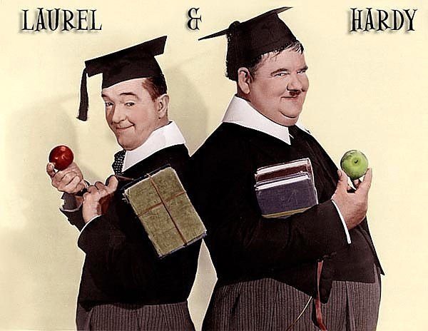 Laurel & Hardy (A Chump At Oxford)