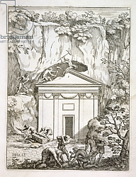 Постер Школа: Итальянская 17в. Excavation of the tomb of Quintus Nasonius Ambrosius in the 1670s