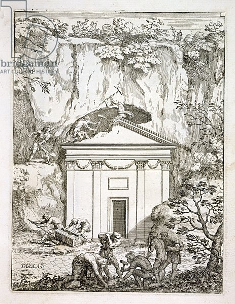 Excavation of the tomb of Quintus Nasonius Ambrosius in the 1670s