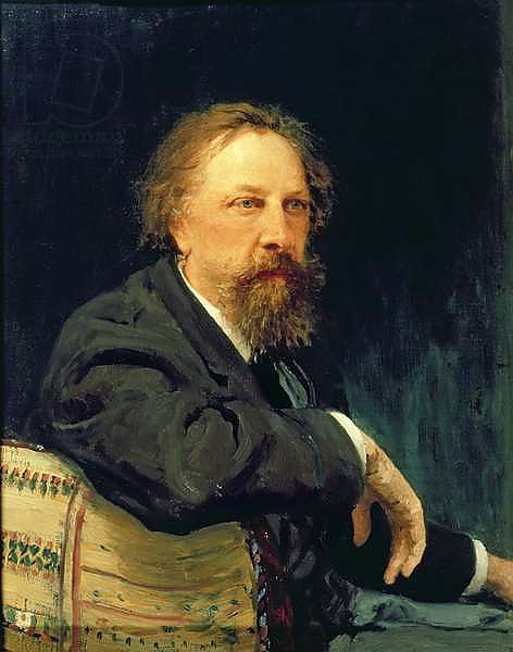 Portrait of the Author Count Alexey K. Tolstoy, 1896