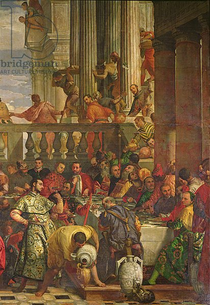 The Marriage Feast at Cana, detail of the right hand side, c.1562