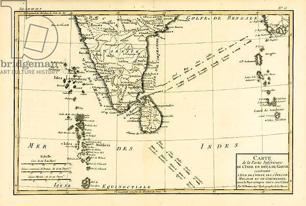 Southern India and Ceylon, 1780