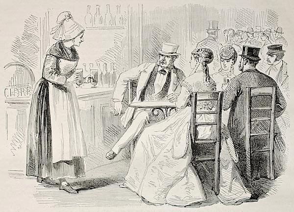 Bar. Created by Pauquet and Dutheil, published on L'Illustration, Journal Universel, Paris, 1868