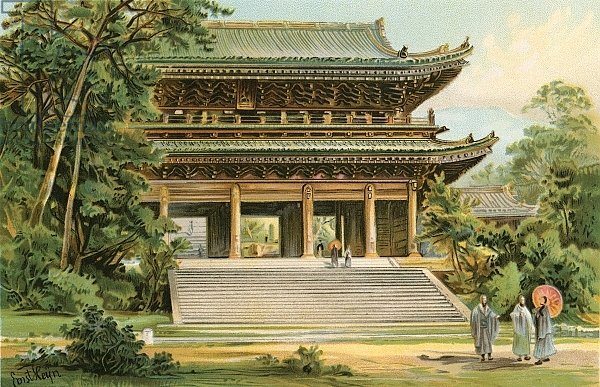 Culture of the Asiatic Mongoloids: Japanese temple