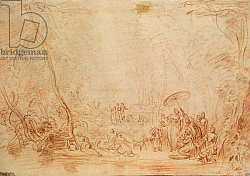 Постер Ватто Антуан (Antoine Watteau) Rescue of Moses from the Water