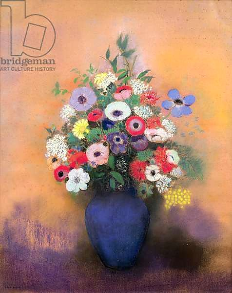 Anemones and lilac in a Blue Vase, after 1912
