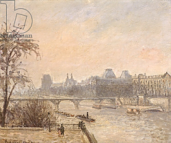 Постер Писсарро Камиль (Camille Pissarro) The Seine and the Louvre, 1903