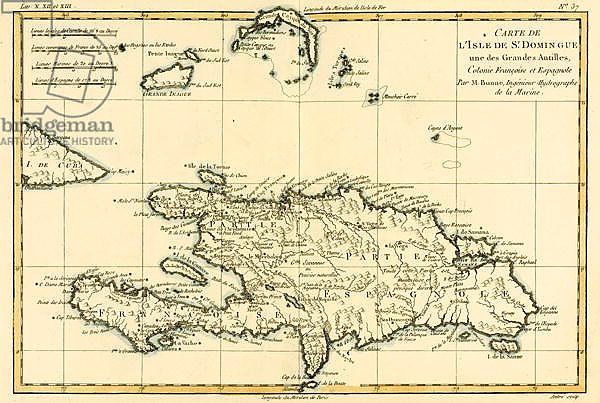 The French and Spanish Colony of the Island of St Dominic of the Greater Antilles, 1780
