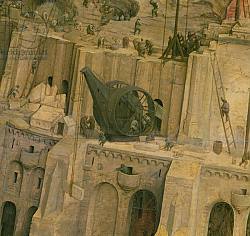 Постер Брейгель Питер Старший The Tower of Babel, detail of construction work, 1563