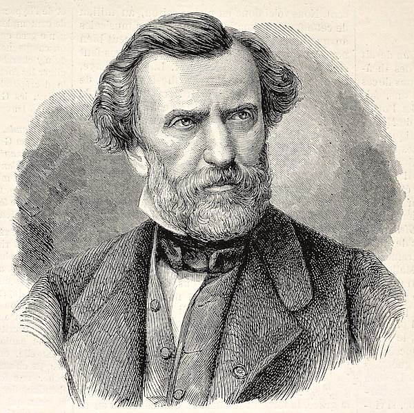 Ambroise Thomas, French composer and Director of the Conservatoire de Paris. Created by Chenu and Ro