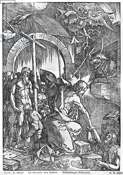 The descent of Christ into Limbo, from 'The Great Passion' series, 1510