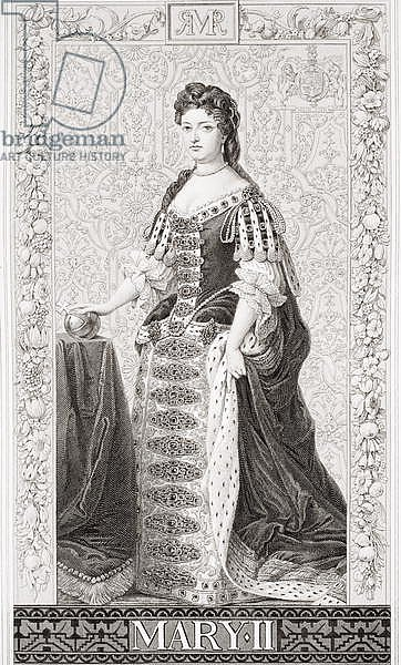 Queen Mary II from `Illustrations of English and Scottish History' Volume II