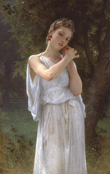 Постер Бугеро Вильям (Adolphe-William Bouguereau) Сережки