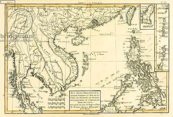 The Philippines, Formosa, South China, Cambodia, Siam, Laos, 1780