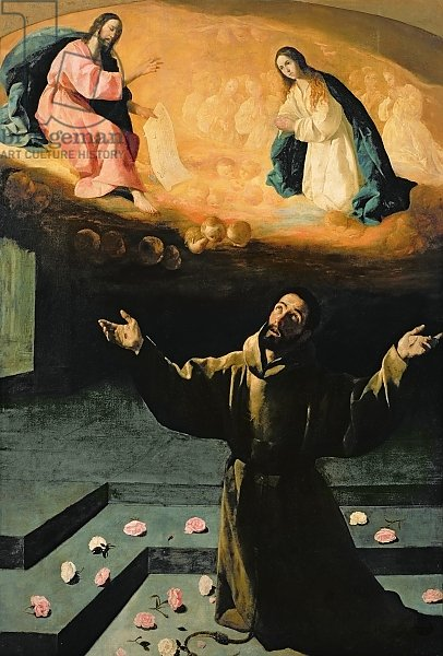 Постер Зурбаран Франсиско St. Francis of Assisi, or The Miracle of the Roses, 1630