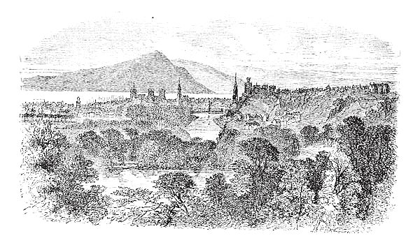 Inverness in Scotland vintage engraving