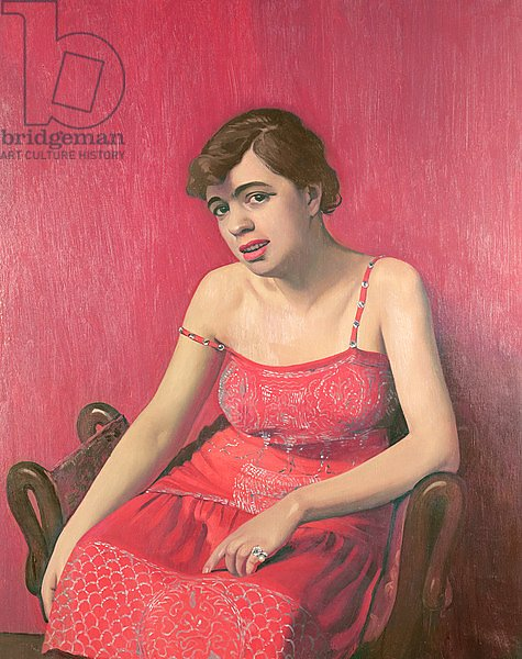Romanian Woman in a Red Dress, 1925