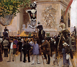 Постер Бакст Леон The Funeral of Victor Hugo at the Arc de Triomphe, 1885