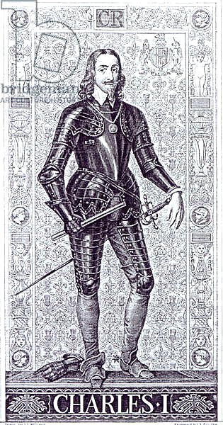 King Charles I, drawn by J.L.Williams and engraved by A.Bourne
