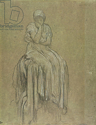 Постер Лейтон Фредерик Study for Solitude, c.1890