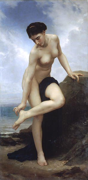 Постер Бугеро Вильям (Adolphe-William Bouguereau) Купальщица