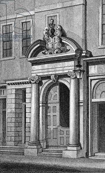 Girdlers' Hall, Basinghall Street, print made by J. Greig, c. 1829-31