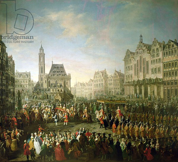 The coronation procession of Joseph II, in Romerberg, 1764