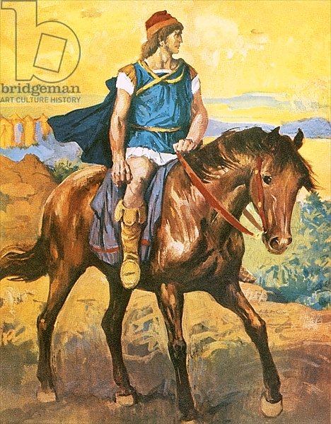 Alexander the Great on horseback