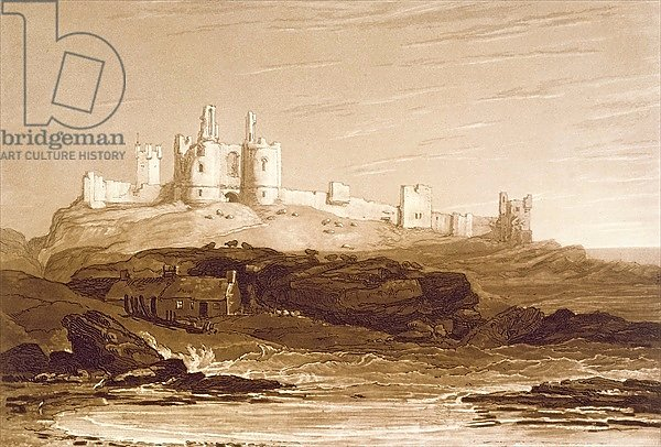 F.14.I Dunstanborough Castle, from the 'Liber Studiorum', engraved by Charles Turner, 1808