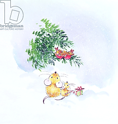 Постер Мэттьюз Диана (совр) Christmas Mice and Robins