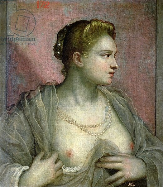Portrait of a Woman Revealing her Breasts, c.1570