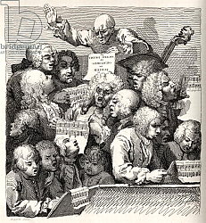 Постер Хогарт Уильям The Chorus, from 'The Works of William Hogarth', published 1833
