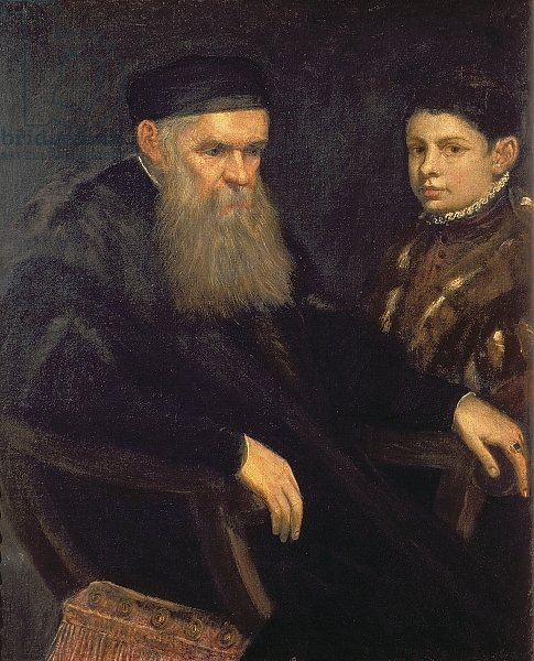 Old man and his servant, 1565