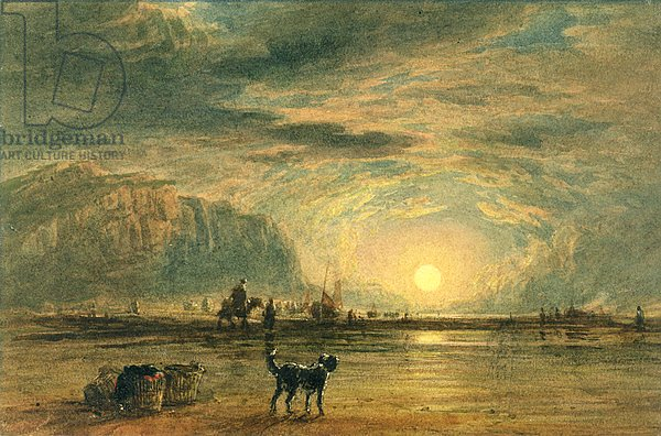 Beach Scene - Sunrise, c.1820