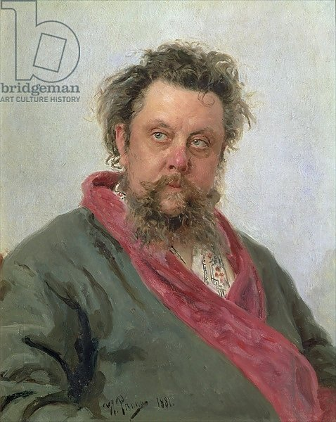 Portrait of Modest Petrovich Moussorgsky 1881