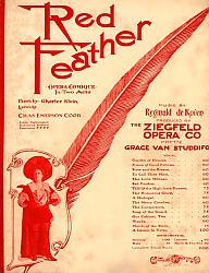 Постер Ziegfeld Sheet Music - Ziegfeld Opera Of 1903 (Red Feather)