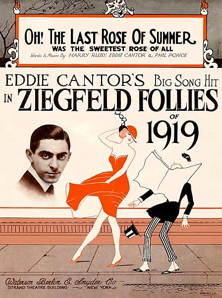 Ziegfeld Sheet Music - Ziegfeld Follies Of 1919 (Oh, The Last Rose Of Summer)