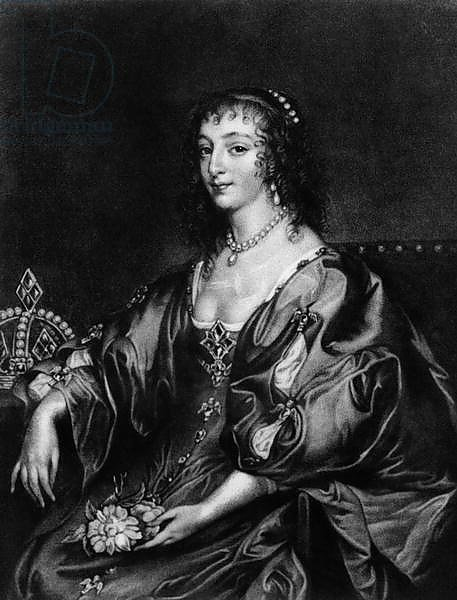 Henrietta Maria, illustration from 'Portraits of Characters Illustrious in British History',]