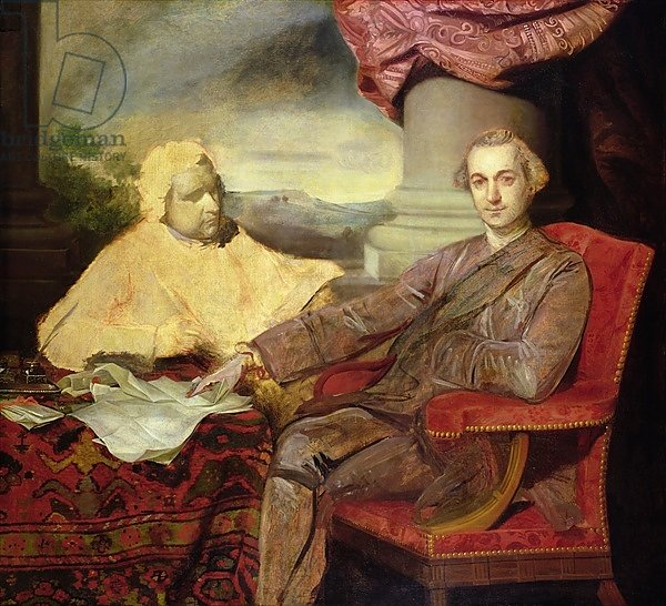 Portrait of Lord Rockingham and Edmund Burke c.1766