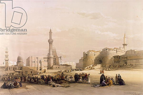 The Entrance to the Citadel of Cairo, from